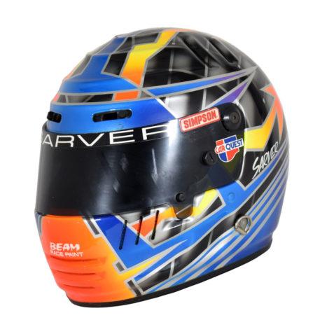 Drag Racing Helmets >> 1996 Bruce Sarver Race Used Top Fuel Drag Racing Helmet