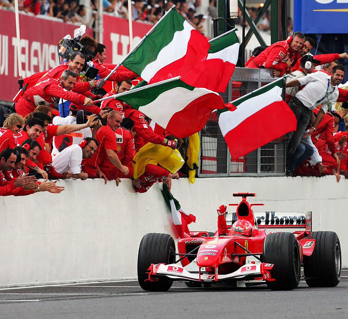 2004 Michael Schumacher Japanese Grand Prix Race Winning Ferrari F1 Gloves Racing Hall Of Fame Collection