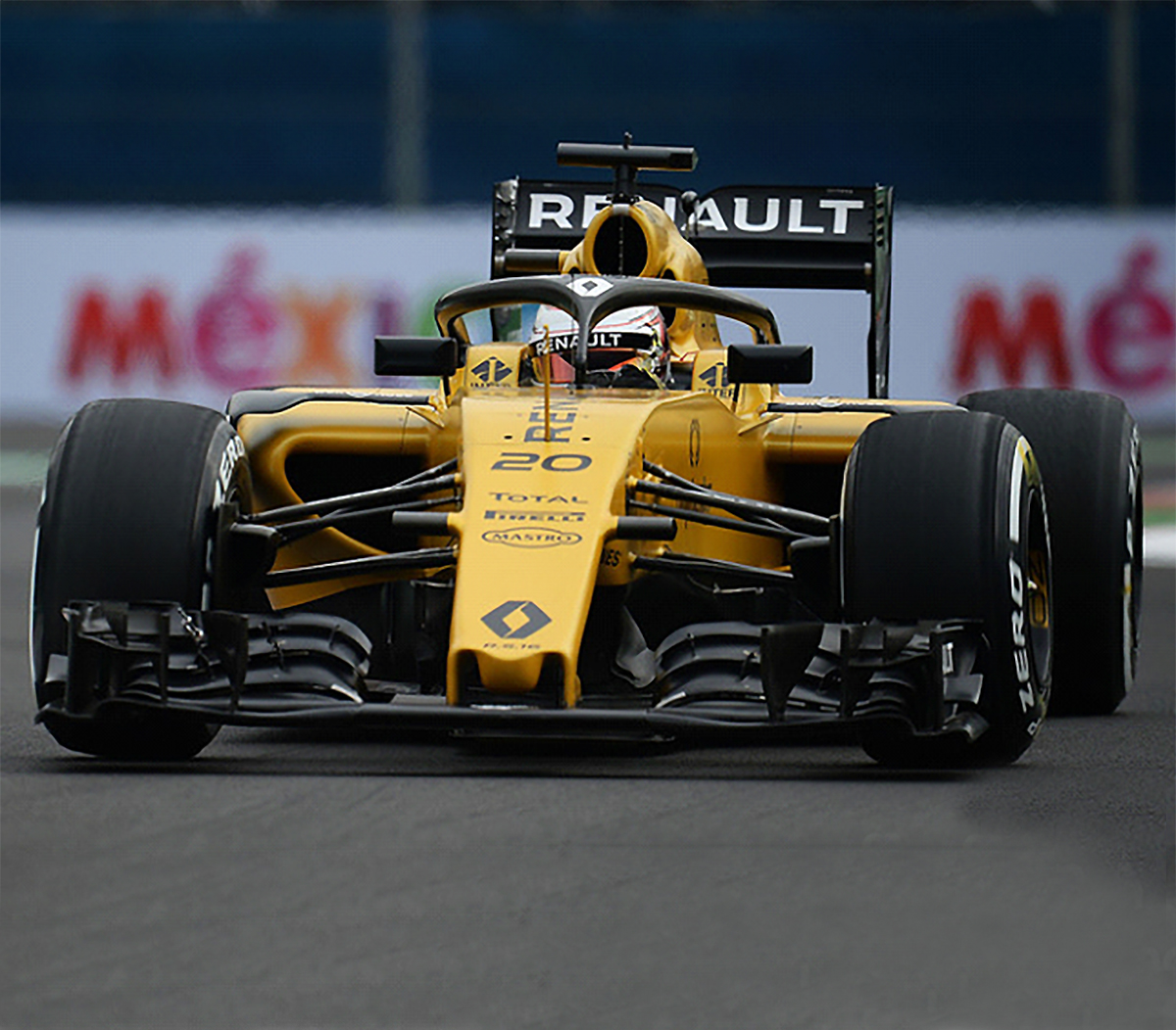 Race Used F1 Components: 2016 Kevin Magnussen Race Used Renault F1 Helmet