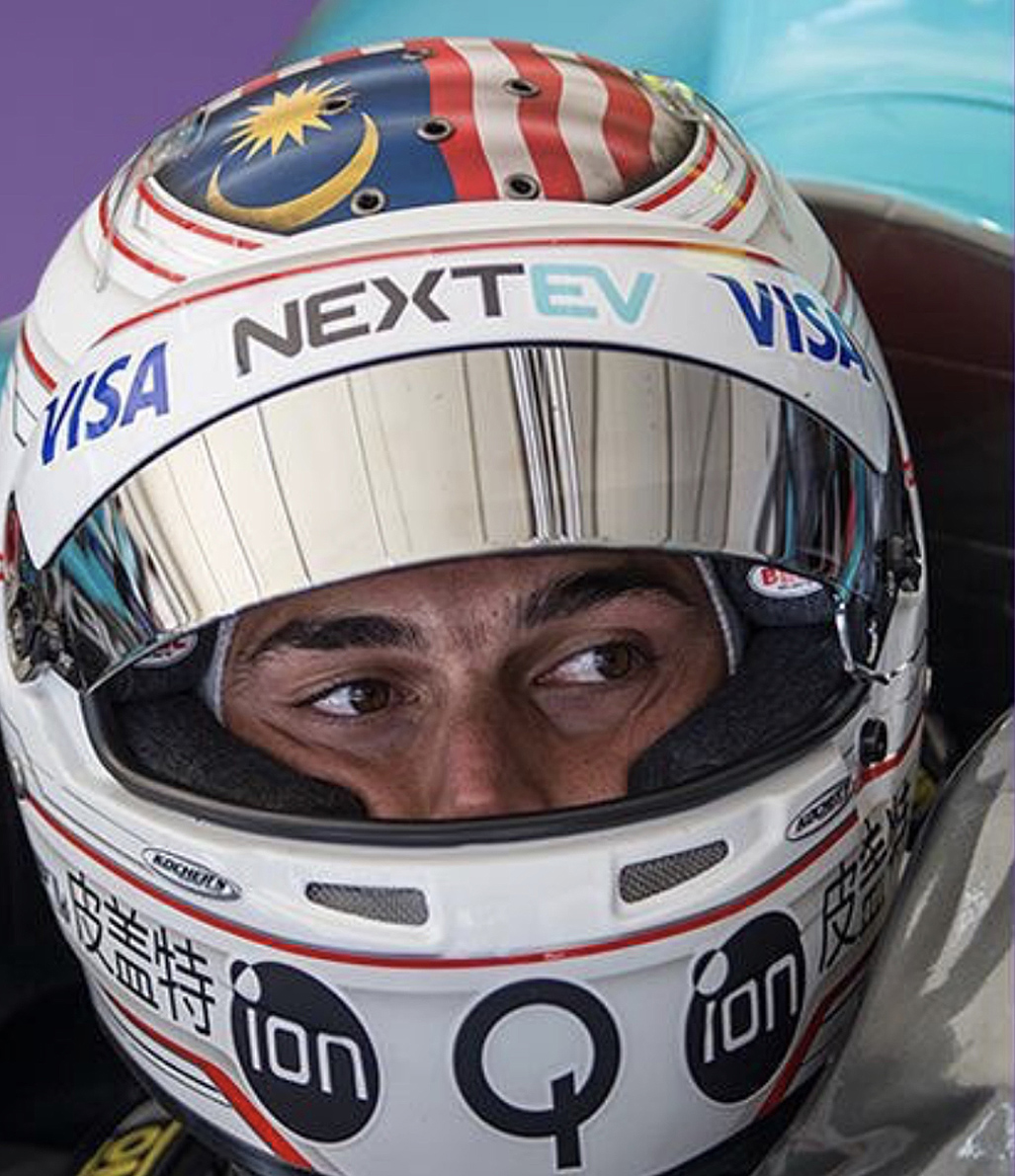 2015 Nelson Piquet Jr Formula E Race Used Helmet