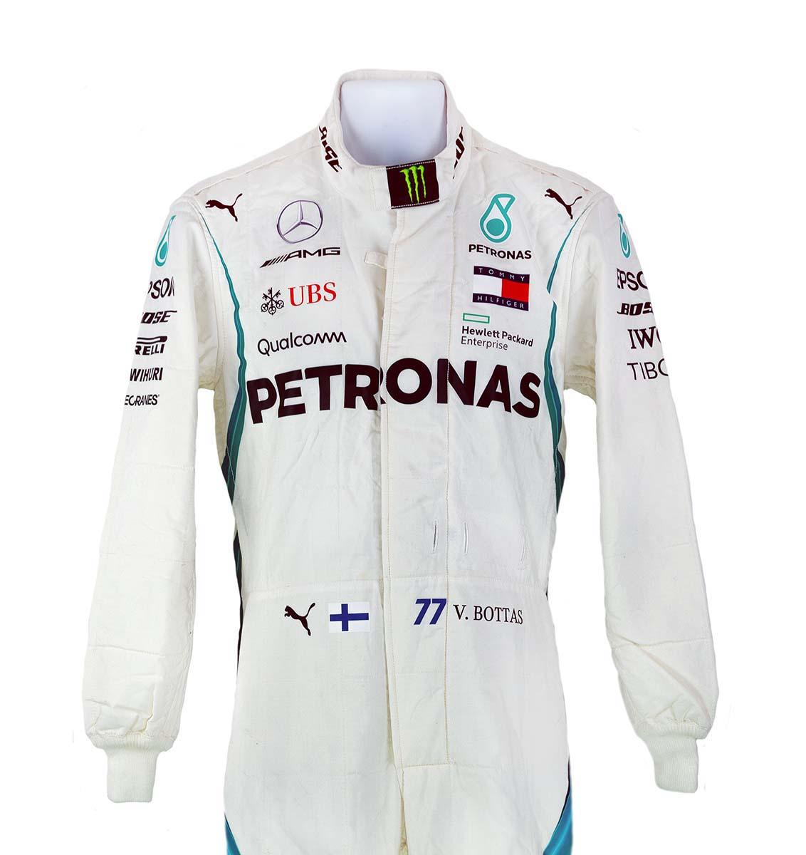 2018 Valtteri Bottas Race Used AMG Mercedes F1 Suit ...