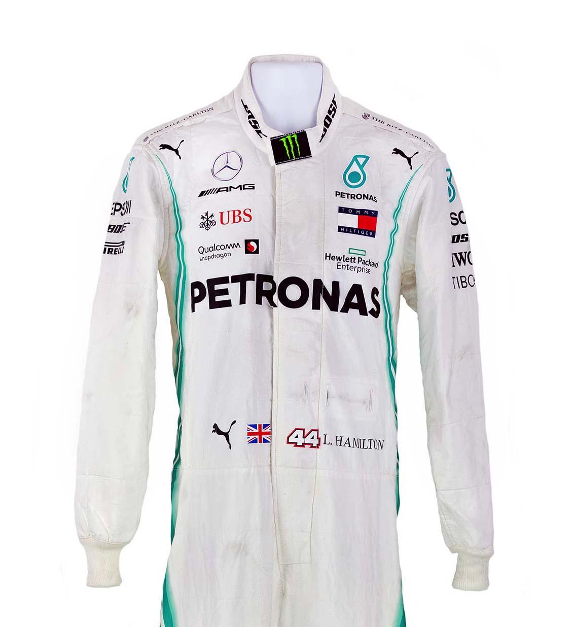 2019 Lewis Hamilton Race Used AMG Mercedes F1 World