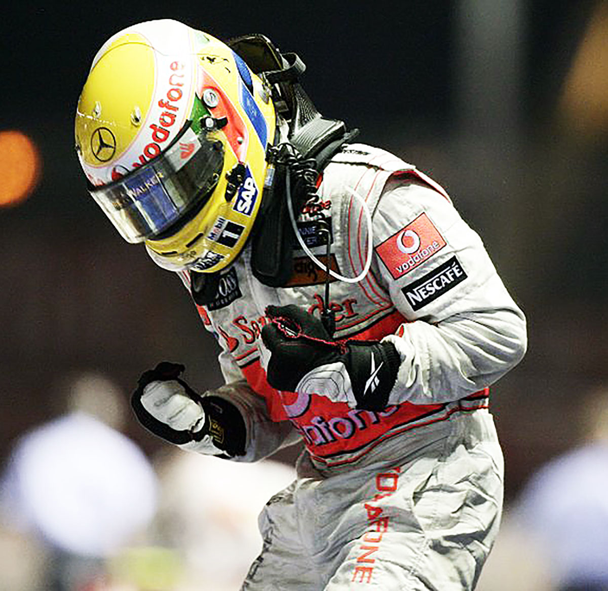 2009 Lewis Hamilton McLaren Mercedes Race Used F1 Suit ...