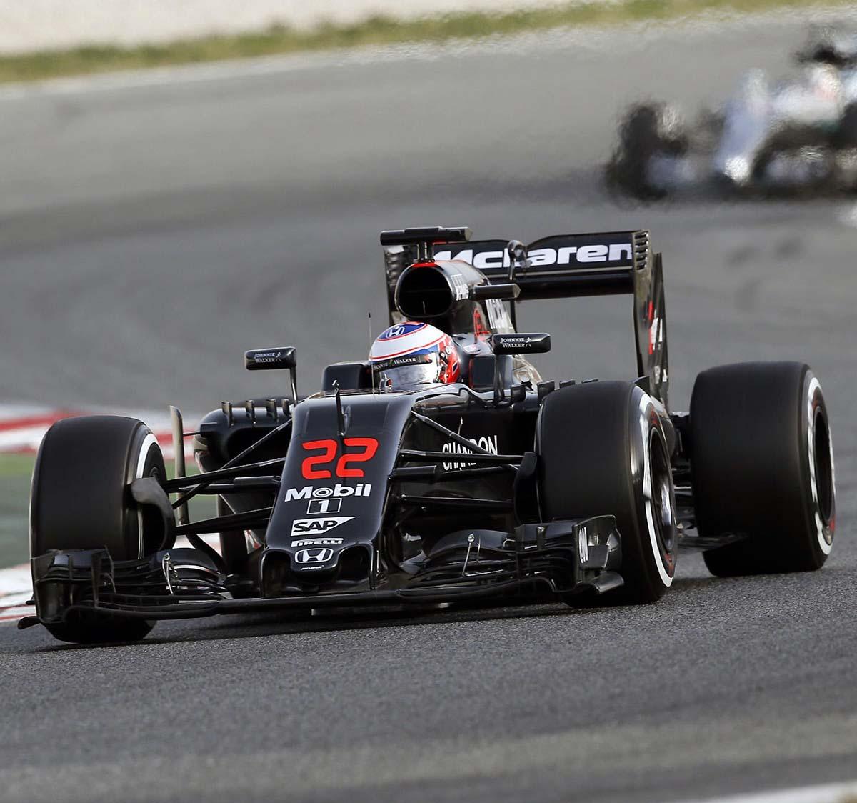 Race Used F1 Components: 2016 Jenson Button Race Used McLaren Arai GP-6RC F1 Helmet