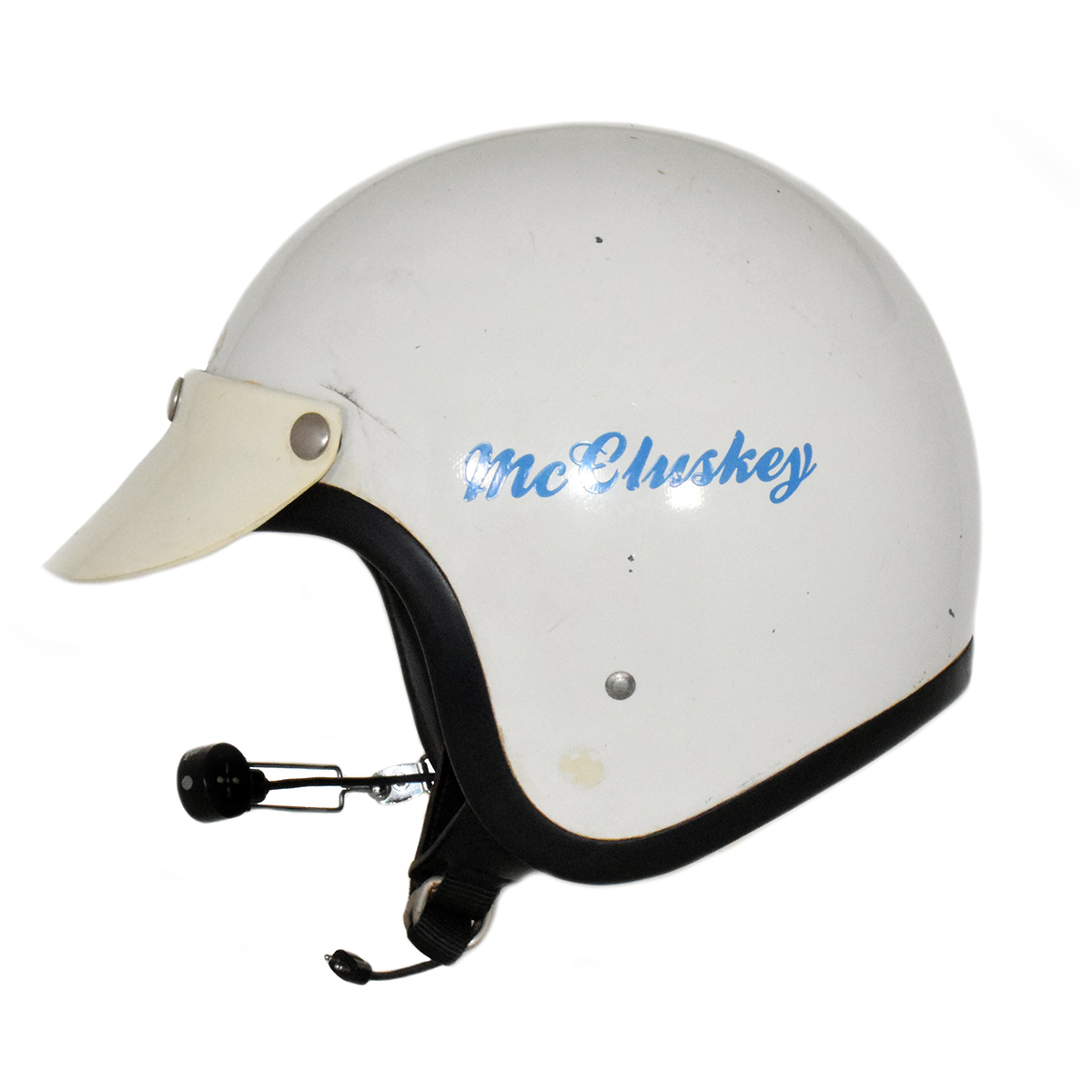 1969 Roger McCluskey USAC Stock Car NASCAR Race Used Helmet