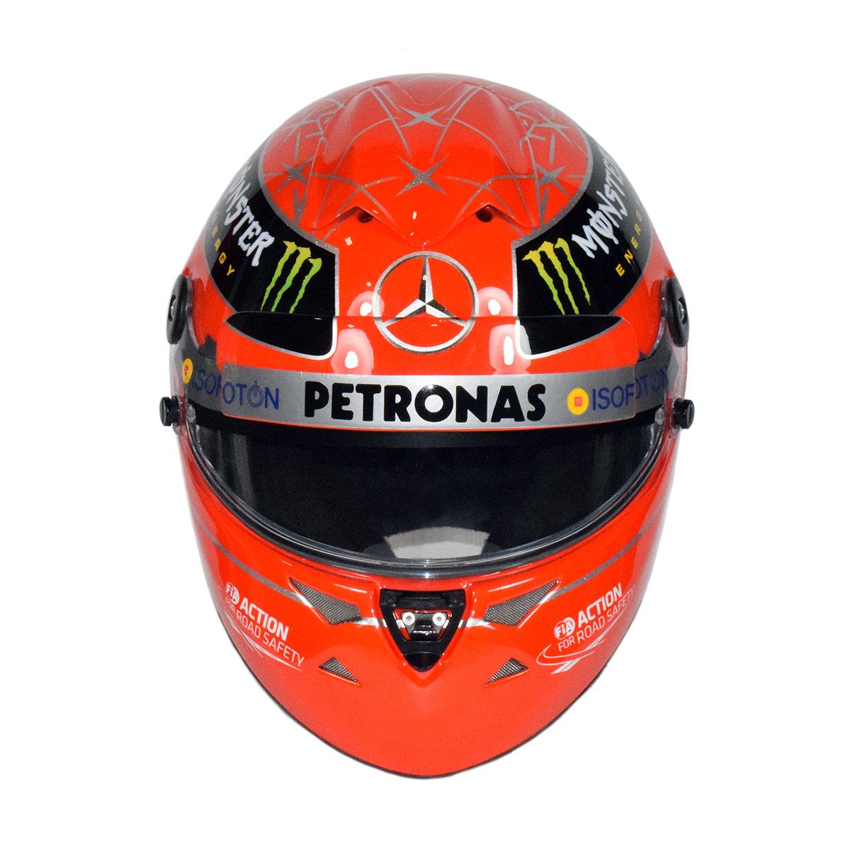 2012 Michael Schumacher Brazil Gp Schuberth Sf1 Carbon Replica F1 Helmet Racing Hall Of Fame Collection