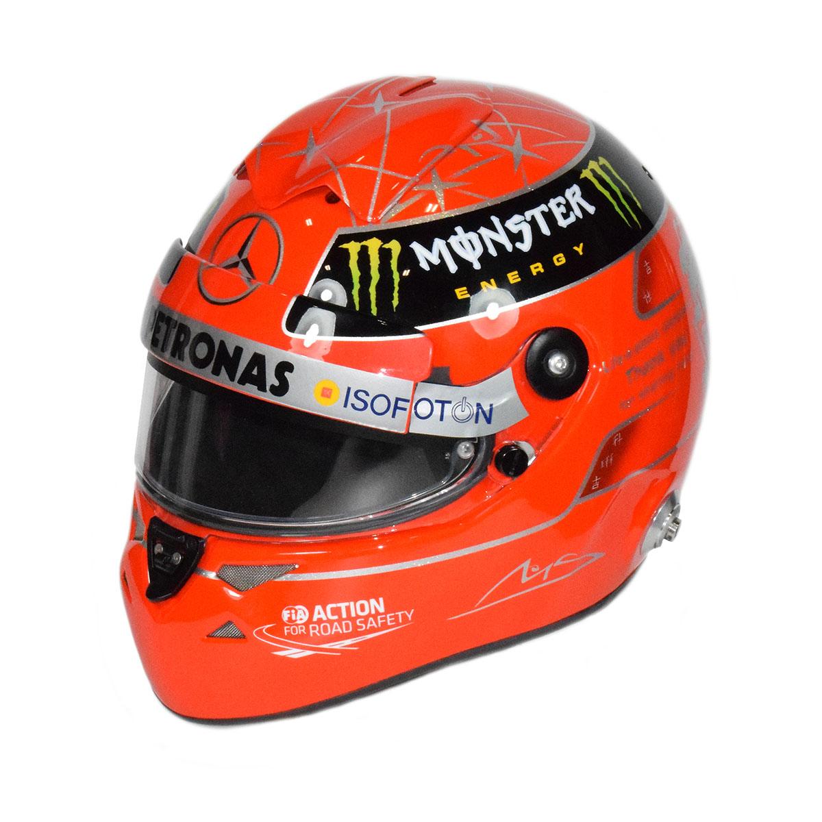 2012 Michael Schumacher Brazil GP Schuberth SF1 Carbon ...