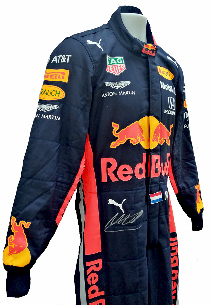2019 Max Verstappen Signed Race Used Red Bull Racing F1 Suit Racing Hall Of Fame Collection