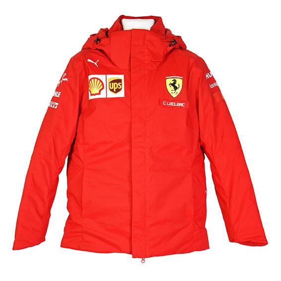 2020 Charles Leclerc Personal Worn Scuderia Ferrari Original Wet Weather Jacket - Racing Hall of ...