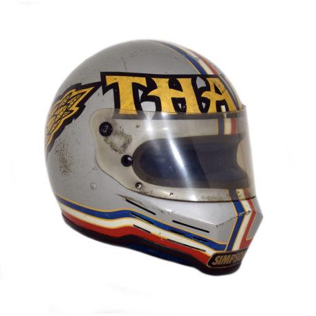 Drag Racing Helmets >> 1980 S Richard Tharp Race Used Top Fuel Drag Racing Helmet